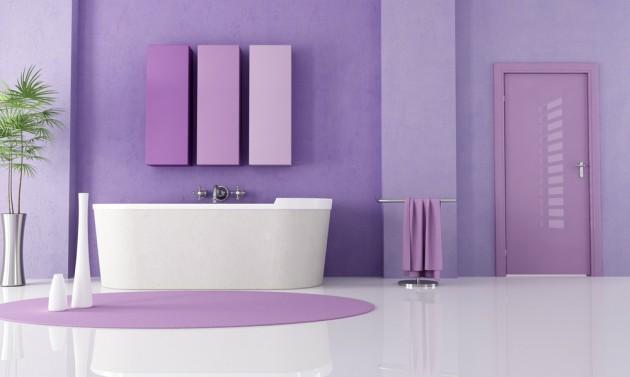 Фиолетовая ванная комната фото - 2 Июня