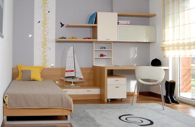 Vaik kambario interjero id jos for Minimalist student room